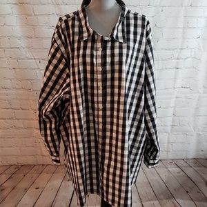 Woman Within Gingham Shirt sz 5X (38/40)
